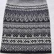 Одежда ручной работы. Ярмарка Мастеров - ручная работа Юбочка из кауни жаккардом. Handmade.