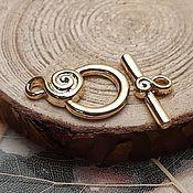 Материалы для творчества handmade. Livemaster - original item Toggle lock gold plated th. Korea (2816). Handmade.