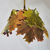 Для дома и интерьера handmade. Livemaster - original item A bouquet of maple leaves lamp for the front porch on a brass suspension. Handmade.