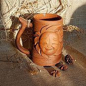 Mugs handmade. Livemaster - original item Ceramic mug Sun. Handmade.