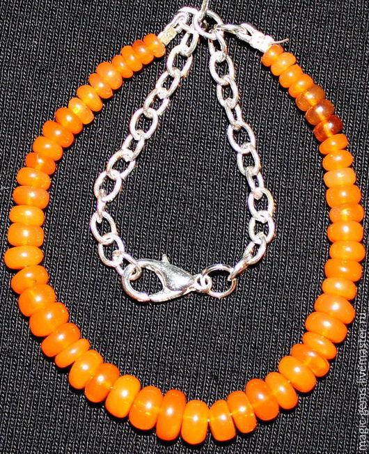 Браслеты ручной работы. Ярмарка Мастеров - ручная работа. Купить браслет из оранжевых опалов.. Handmade. Оранжевый, опал эфиопский