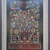 Материалы для творчества handmade. Livemaster - original item Talisman-Tree Of Life. The scheme for embroidery cross. Handmade.