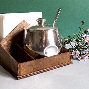 Для дома и интерьера ручной работы. Ярмарка Мастеров - ручная работа Салфетница деревянная для сервировки стола. Handmade.