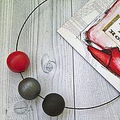 Колье ручной работы. Ярмарка Мастеров - ручная работа Минимализм в красном. Handmade.