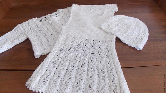 Одежда для девочек, ручной работы. Ярмарка Мастеров - ручная работа. Купить Летний комплект для девочки. Handmade. Белый, платье для девочки