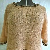 Одежда ручной работы. Ярмарка Мастеров - ручная работа Укороченный пуловер. Handmade.