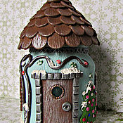 Посуда handmade. Livemaster - original item A house for fairies. The average house. Christmas set. Set for spices.. Handmade.