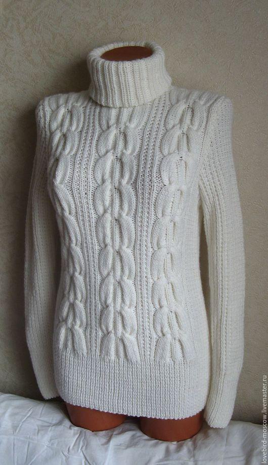 """Кофты и свитера ручной работы. Ярмарка Мастеров - ручная работа. Купить Женский свитер """"Снегирь"""". Handmade. Белый, свитер теплый"""