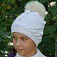 Шапки ручной работы. Вязаная зимняя шапка с помпоном. Ирина Мажуга (Мультан) (MIRA060609). Ярмарка Мастеров. Шапка детская