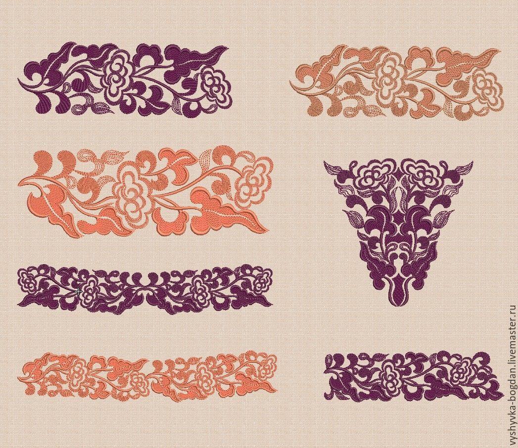 Дизайн машинной вышивки орнамент
