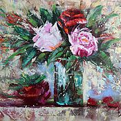 Картины и панно ручной работы. Ярмарка Мастеров - ручная работа Картина маслом Свежесть розы. Handmade.