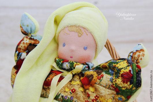 Вальдорфская игрушка ручной работы. Ярмарка Мастеров - ручная работа. Купить Вальдорфская кукла-бабочка. Handmade. Лимонный, новорожденному