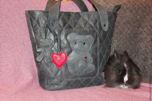 """Женские сумки ручной работы. Ярмарка Мастеров - ручная работа. Купить Кожаная сумка """" Teddy Bear"""". Handmade."""