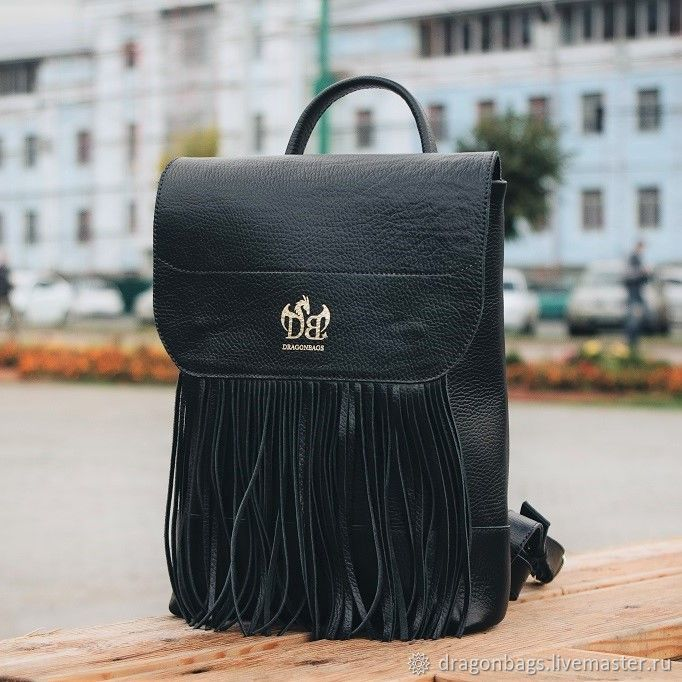 Leather backpack for women 'Doberman' (Black), Backpacks, Yaroslavl,  Фото №1