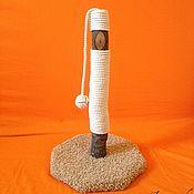 Для домашних животных, ручной работы. Ярмарка Мастеров - ручная работа Когтеточка столбик из дуба. Handmade.
