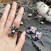 handmade. Livemaster - original item Earrings and ring