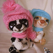 Куклы и игрушки ручной работы. Ярмарка Мастеров - ручная работа щенки Грета и Марта. Handmade.
