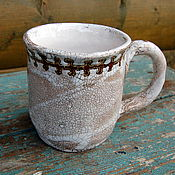 Посуда ручной работы. Ярмарка Мастеров - ручная работа Чашка керамическая 2 Вепсские мотивы. Handmade.
