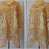 """Одежда ручной работы. Ярмарка Мастеров - ручная работа Жакет"""" ПАВА"""" кружевной. Handmade."""