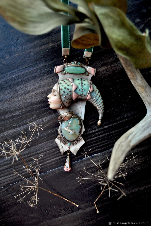 Pendant 'Dremlea' sculpted miniature, Pendants, Vladimir,  Фото №1