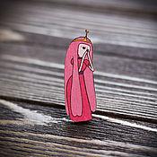 Украшения handmade. Livemaster - original item Wooden icon Princess Bubblegum. Handmade.