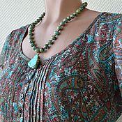 Украшения handmade. Livemaster - original item Beads necklace pendant African turquoise Imani. Handmade.