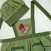 Фартуки ручной работы. Ярмарка Мастеров - ручная работа Фартук детский Ежик с вышивкой. Handmade.
