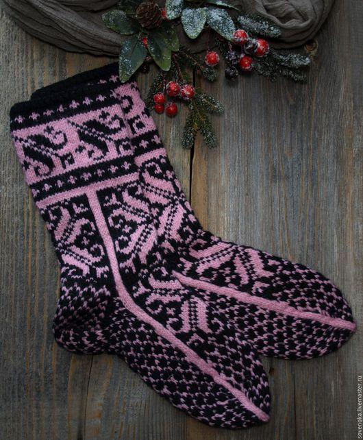 Носки, Чулки ручной работы. Ярмарка Мастеров - ручная работа. Купить Носки Норвежские. Handmade. Бледно-розовый, ручная вязка
