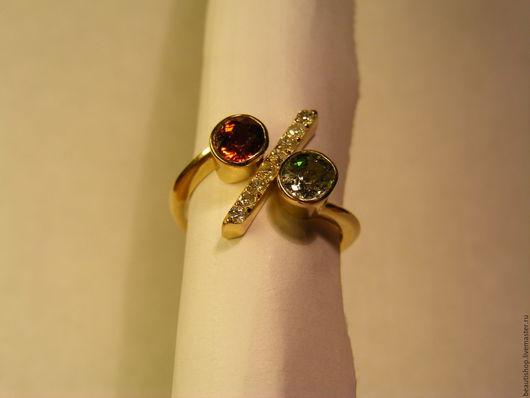 """Кольца ручной работы. Ярмарка Мастеров - ручная работа. Купить кольцо """"деловая женщина"""". Handmade. Спессартин, гранат натуральный"""