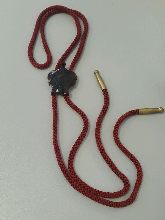 Винтажные украшения. Ярмарка Мастеров - ручная работа. Купить галстук - боло панцирь черепахи винтаж Япония. Handmade. Галстук