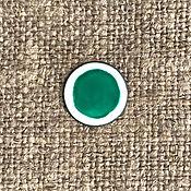 Материалы для творчества handmade. Livemaster - original item Overglaze paint SHINCERAMIC No. №3470 green peacock. Handmade.