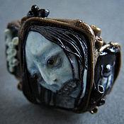"""Украшения ручной работы. Ярмарка Мастеров - ручная работа Кольцо """"Blue-faced Japan Zombie"""". Handmade."""