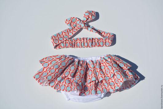 Для новорожденных, ручной работы. Ярмарка Мастеров - ручная работа. Купить Трусики на памперс - блумеры с повязкой. Handmade. Трусики на памперс