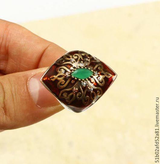 """Кольца ручной работы. Ярмарка Мастеров - ручная работа. Купить Кольцо """"Восточные узоры"""" с покрытием ювелирной эмалью.. Handmade."""