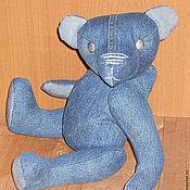 Куклы и игрушки ручной работы. Ярмарка Мастеров - ручная работа Непохожий на Тедди ( Деним ). Handmade.