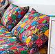 Текстиль, ковры ручной работы. Ярмарка Мастеров - ручная работа. Купить Лоскутная наволочка  с подушкой. Handmade. Подушка лоскутная