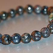 "Bead bracelet handmade. Livemaster - original item ""NATURAL PICTURE"" -peter`s crocodilite-blue ironstone. Handmade."