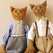 """Куклы и игрушки ручной работы. Ярмарка Мастеров - ручная работа Чердачные коты в """"Ретро"""" стиле. Handmade."""