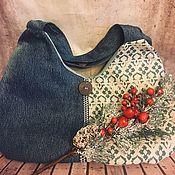 Сумки и аксессуары handmade. Livemaster - original item Travel bag: Bag shopper denim. Handmade.