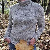 Кардиганы ручной работы. Ярмарка Мастеров - ручная работа Твидовый вязаный свитер. Handmade.