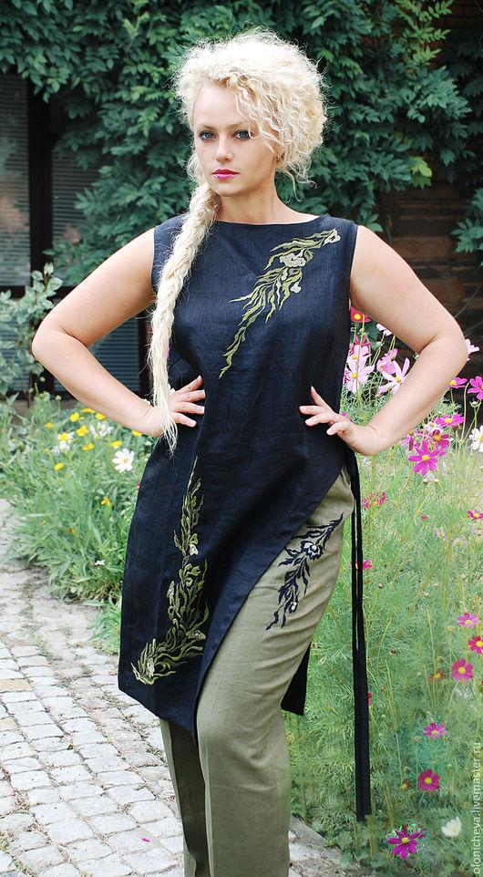 Льняной женский костюм с доставкой