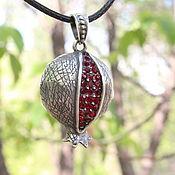 Украшения handmade. Livemaster - original item Delicious Garnet pendant with zircons in 925 Sterling silver GA0048. Handmade.