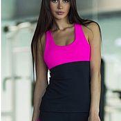 Спортивные костюмы ручной работы. Ярмарка Мастеров - ручная работа Спортивный топ Designed for Fitness Basic Pink. Handmade.