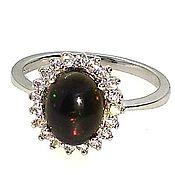Украшения handmade. Livemaster - original item Silver ring with opal, p. .17. Handmade.
