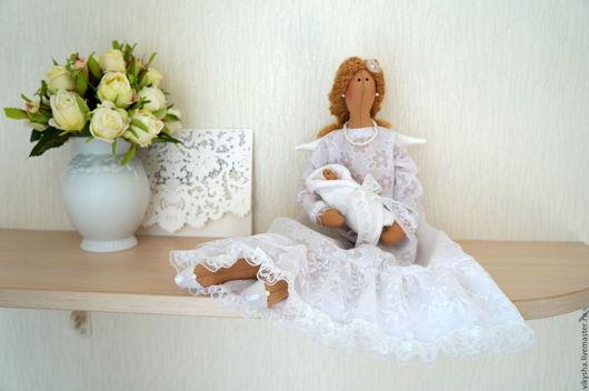Куклы Тильды ручной работы. Ярмарка Мастеров - ручная работа. Купить Тильда ангел хранитель.. Handmade. Подарок беременной