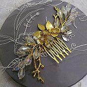 Свадебный салон handmade. Livemaster - original item Comb for the hair.Golden twigs.. Handmade.
