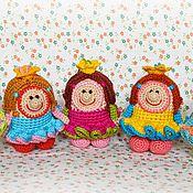 """Куклы и игрушки ручной работы. Ярмарка Мастеров - ручная работа Чудики вязаные """"Принцессы"""". Handmade."""