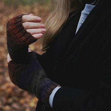 """Аксессуары ручной работы. Ярмарка Мастеров - ручная работа Митенки """" Осенний лес """". Handmade."""