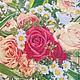 Цветные розы с ромашками  Салфетка для декупажа, салфетка пр-во Польша Декупажная радость