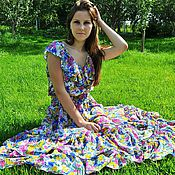 Одежда ручной работы. Ярмарка Мастеров - ручная работа Платье Цветочная поляна. Handmade.